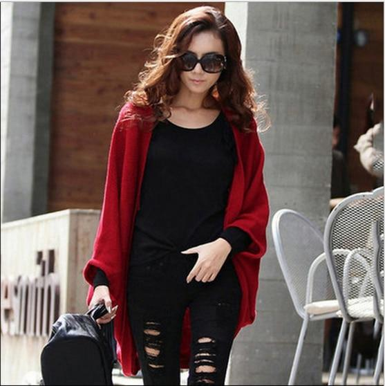S XL Product Warm Casual Knitting Long Shawl Coat Cardigan Female Loose Kimono Cardigan Knitted Jumper Sweater Women Cardigan