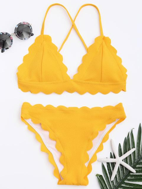 Women Swimsuit Spaghetti Straps Solid Color Summer Beach Bathing Suit-SWIMWEAR-SheSimplyShops