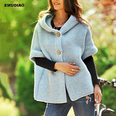 Hooded Cardigan Sweater Women Breasted Knitted Cardigans Sweater Woman Winter Casual Solid Knitwear Clothes Feminine Coat