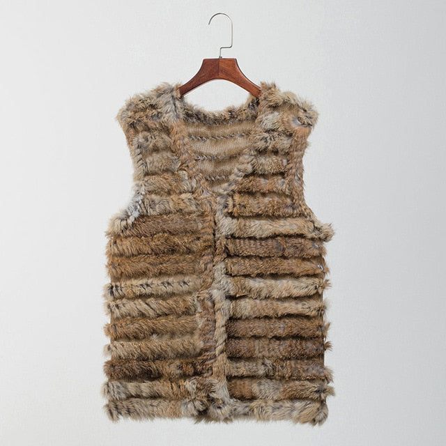 VT801 women fashion warm fur vests rabbit hair fur coat warm with a variety of color optional beige black plus size