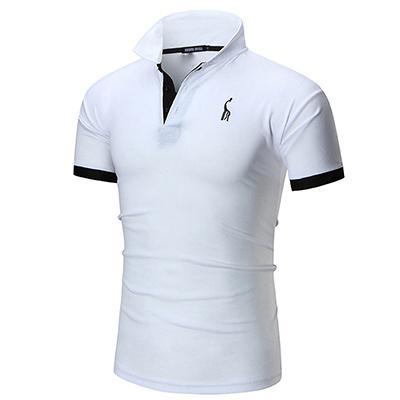 Cotton Solid Casual Polo For Men Spring Summer Short Sleeve Anime Shirt Men's Jersey Polo Shirts-SHIRTS-SheSimplyShops