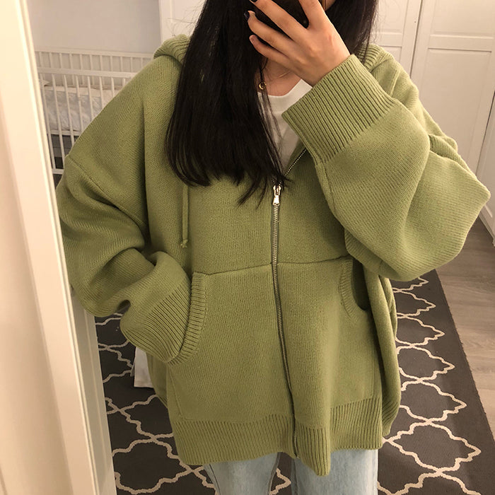 womens sweaters autumn winter tops harajuku korean fashion personality retro pocket zipper knitted cardigan women sweater