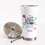 Stainless Steel Tumbler With Straw-GOTShirts - Personalized Gifts