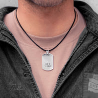 Army Necklace Tag (Engraved)