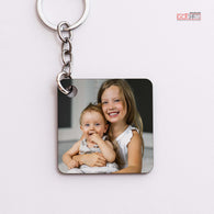Square Wooden Keyring (1 side print)-GOTShirts - Personalized Gifts