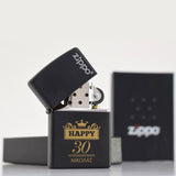 Zippo® Lighter - Black (Engraved)-GOTShirts - Personalized Gifts