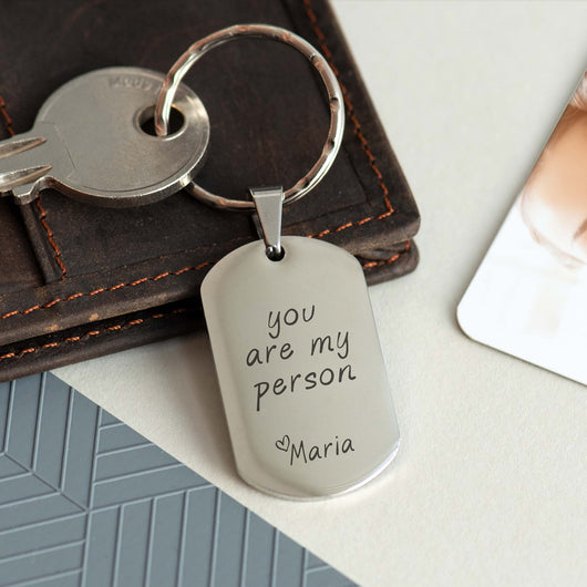 Dog Tag Keyring (Engraved)-GOTShirts - Personalized Gifts