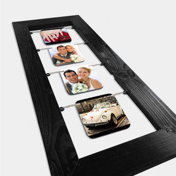 4 Memories Wooden Frame-GOTShirts - Personalized Gifts
