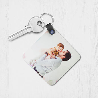 Square Plastic Keyring (2 side print)-GOTShirts - Personalized Gifts