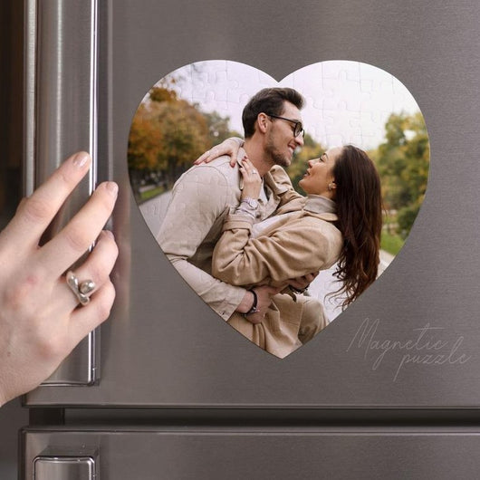 Magnetic Photo Puzzle Heart