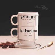 Set of 2 Mugs with Metal Base-GOTShirts - Personalized Gifts