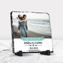 Rock Photo Slate 30x30cm-GOTShirts - Personalized Gifts