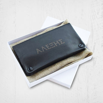 Leather Tobacco Case (Engraved)-GOTShirts - Personalized Gifts