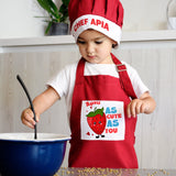 Children's Cooking Apron & Chef's Hat-GOTShirts - Personalized Gifts
