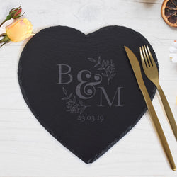 Rock cut Heart Platter (Engraved)-GOTShirts - Personalized Gifts