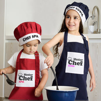 Kid's Apron & Hat-GOTShirts - Personalized Gifts