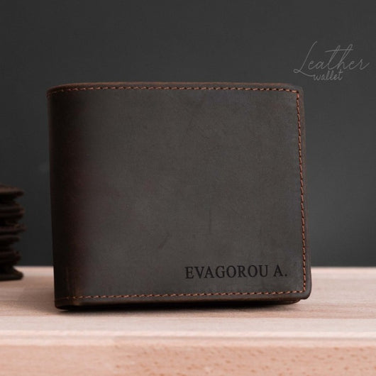 Personalized Men's Leather Wallet (Engraved)-GOTShirts - Personalized Gifts