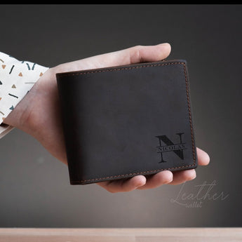 Men's Leather Wallet (Engraved)-GOTShirts - Personalized Gifts