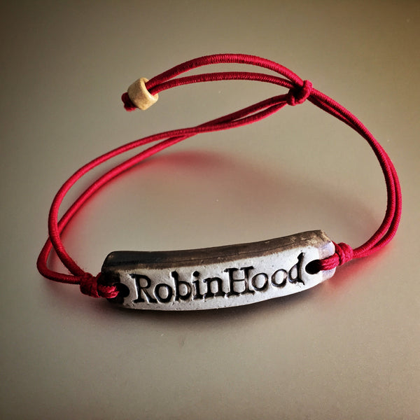 Be Robin Hood Red Feather MudLove Charity Clay Bracelet