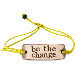 Be Robin Hood Be The Change MudLove Charity Clay Bracelet