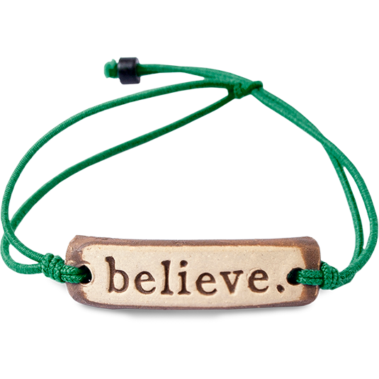 Be Robin Hood Believe MudLove Charity Clay Bracelet