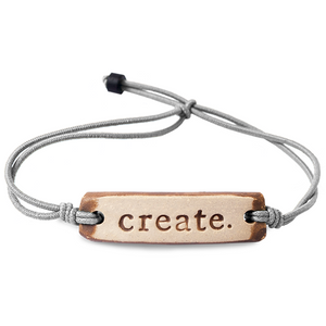Be Robin Hood Create Feather MudLove Charity Clay Bracelet