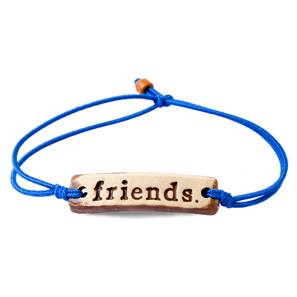 Be Robin Hood Friends Feather MudLove Charity Clay Bracelet