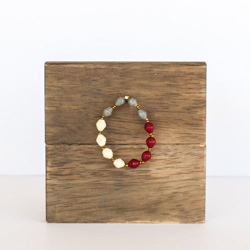 Redwood Block Stackable Bracelet