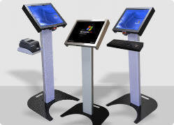 Podium Kiosk Bundle With 22 Quot Touch Screen Pc Electronic