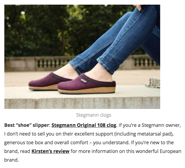 "BarkingDogShoes.com names the Original 108 Wool Clog its ""Best 'Shoe' Slipper."""