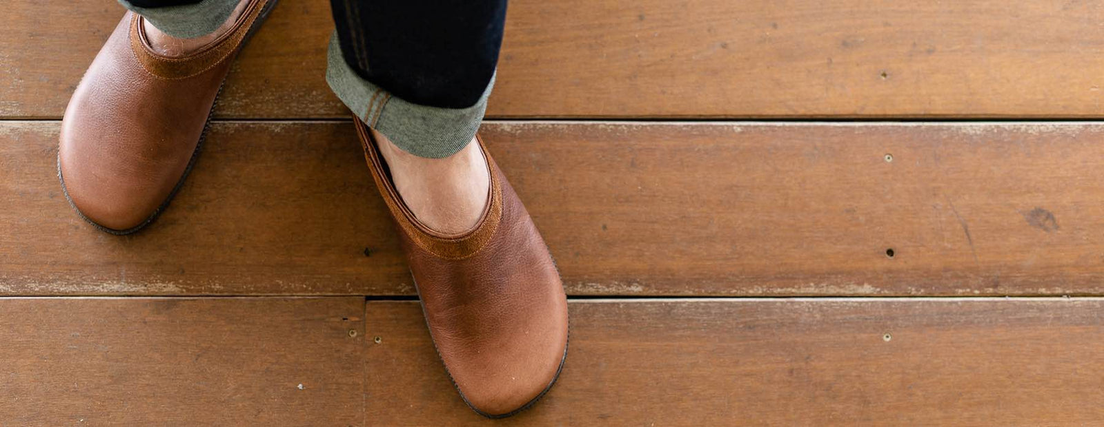 Men's Leather Clogs - Durable and