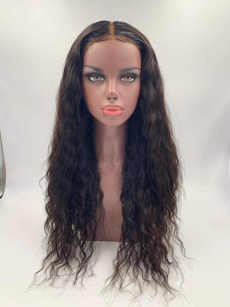 Water wave 24in Closure Wig