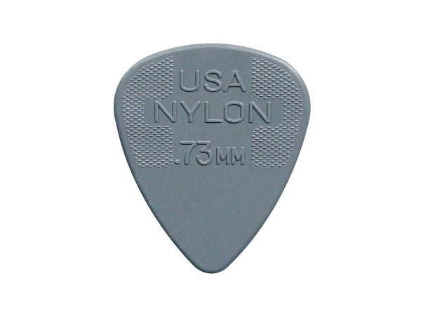 0.73 mm. plectra, nylon, grijs, 12-pack