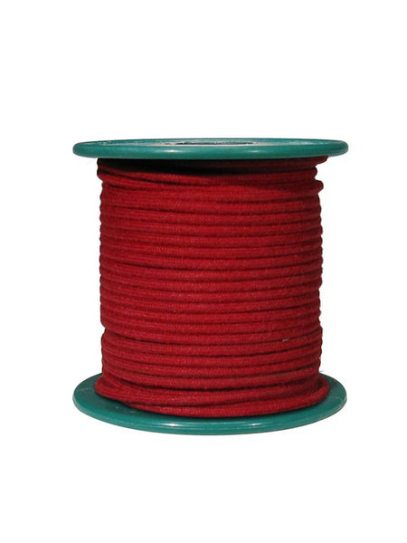 cloth covered wire, vintage style, 15 meter, 18 gauge (1mm2), copper, red