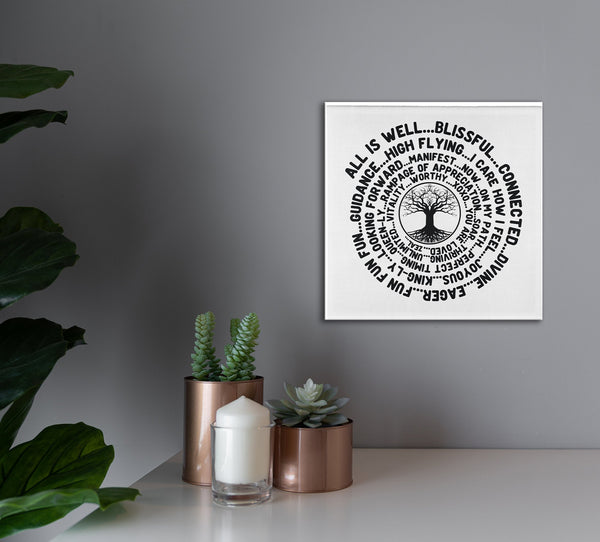 ABC FEEL GOOD Tree of Life Abraham-Hicks Inspired - Square High Quality Canvas Wall Art-YogaStatement.com