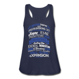 ABC FEEL GOOD Typography Women's Flowy Tank Top by Bella - SP-YogaStatement.com