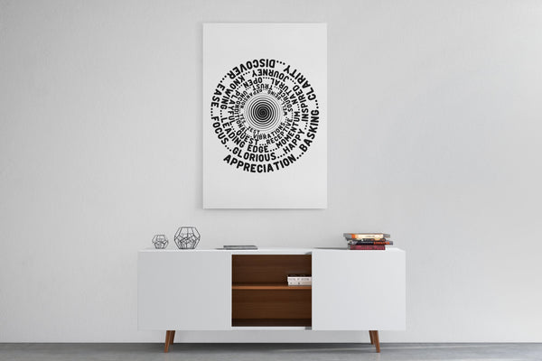 ABC FEEL GOOD Vortex Abraham-Hicks Inspired - Portrait Luxury High Quality Canvas Wall Art-YogaStatement.com