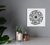 ABC FEEL GOOD Vortex Abraham-Hicks Inspired - Square High Quality Canvas Wall Art-YogaStatement.com