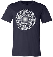 ABC FEEL GOOD VORTEX Abraham-Hicks Inspired Unisex Men Tee - White Print-YogaStatement.com