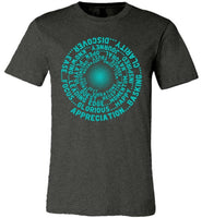 ABC FEEL GOOD VORTEX Abraham-Hicks Inspired Unisex Men Women Tee / Long Sleeve T-Shirt - Robin Egg Blue Print-YogaStatement.com