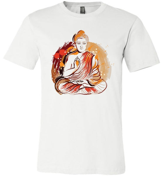 Buddha Meditation Grunge Paint Splash * Unisex Men Jersey T-Shirt-YogaStatement.com