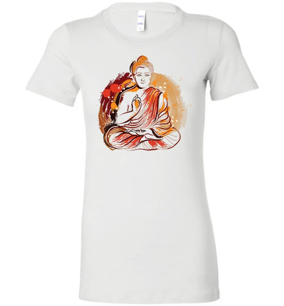 Buddha Meditation Grunge Paint Splash * Women Favorite Tee-YogaStatement.com