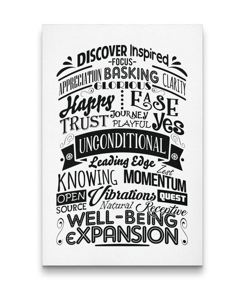 ABC FEEL GOOD Typography - Portrait Luxury High Quality Canvas Wall Art