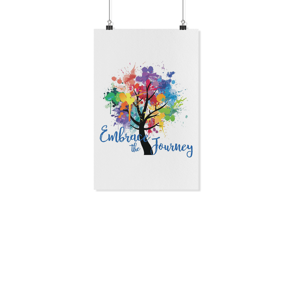 EMBRACE THE JOURNEY Paint Splash Tree Yoga Inspired - Wall Art Poster-YogaStatement.com