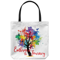 "EMBRACE THE JOURNEY Tree of Life Attractive Yoga Gift * Tote Bag 18""X18""-YogaStatement.com"