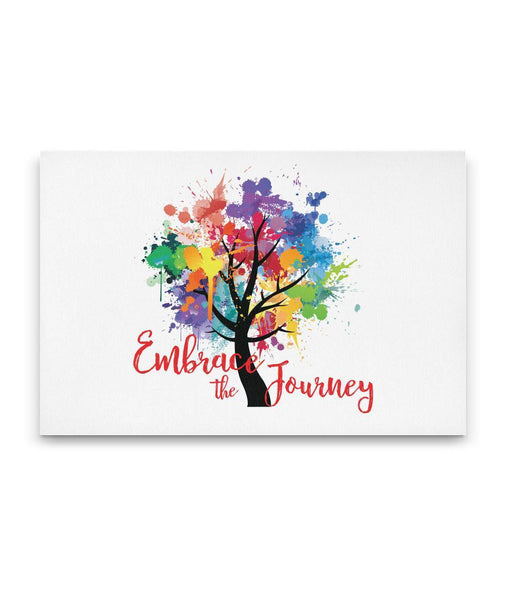 EMBRACE THE JOURNEY Tree Of Life Watercolor - Landscape Luxury High Quality Canvas Wall-YogaStatement.com