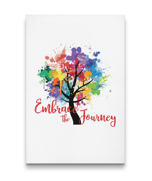 EMBRACE THE JOURNEY Tree Of Life Watercolor - Portrait Luxury High Quality Canvas Wall-YogaStatement.com