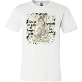 HAPPINESS IS THE PATH Buddha Meditation Grunge Design * Unisex Men Jersey T-Shirt-YogaStatement.com