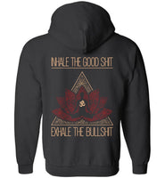 INHALE THE GOOD SH** Buddha Meditation * Unisex Men Full Zip Hoodie-YogaStatement.com