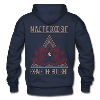 INHALE THE GOOD SHIT Heavy Blend Adult Hoodie Pullover (Back Print) - SP-YogaStatement.com
